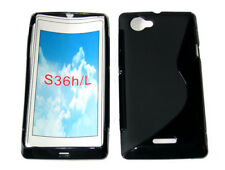Pattern Gel Case Cover For Sony Ericsson Xperia L S36h C2105 C2104 C210X Black