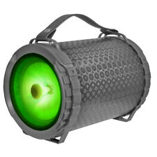 "Fully Powered Portable 1000 Watts Peak Power 6.5"" Speaker w/ LED Light - Black"