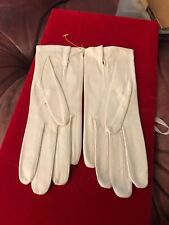 French Leather Size 7 Ivory Gloves New