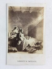 Victorian CDV Carte De Visite Photo Artwork Engraving 83 Liberty Captivity