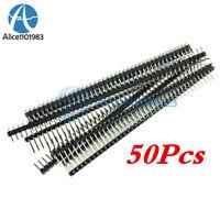 50Pcs 40Pin 2.54mm Single Row Right Angle Pin Header Strip Arduino kit