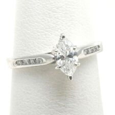 NEW Platinum Marquise Diamond Engagement Ring 1/2 carat channel set F VS2