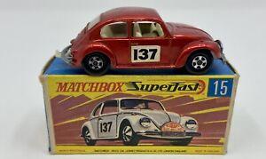 Matchbox Superfast No. 15 Red VW 1500 in Original Box