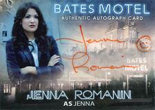 Bates Motel Autograph Card AJR Jenna Romanin as Jenna Orange Ink Smiley Face