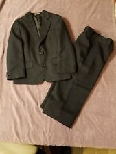 Young Boys Formal Black 2 Piece Suit Jacket and Pants Set Size 5 Reg