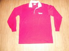 ELLESE Sport Red Polo Shirt Long Sleeve  Adults Medium Made In ITALY!!