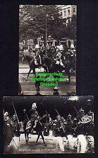 116084  14 AK Leipzig Königsparade Fotokarte 31. Mai 1907 Tribüne Reiter Militär