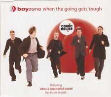 BOYZONE WHEN THE GOING GETS TOUGH UK CD SINGLE INC ALISON MOYET WONDERFUL WORLD