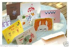 8 Cute Bunny Thank You Card & Birthday Card Assortment 8 Pack with Envelopes