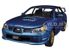 SUBARU IMPREZA WRX STi BLUE 1/24 DIECAST CAR MODEL BY MOTORMAX 73330