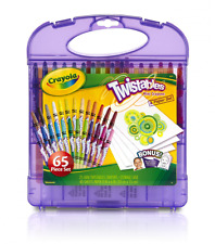 Crayola Twistables Colored Crayons Pencils Kit 65pc Set Free Shipping to US