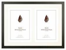 Matt Black Double A4 Certificate Frame (20x15inches)