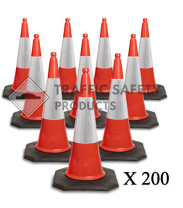 200 x ELITE U.K Traffic Cones (2 Piece - 750mm)