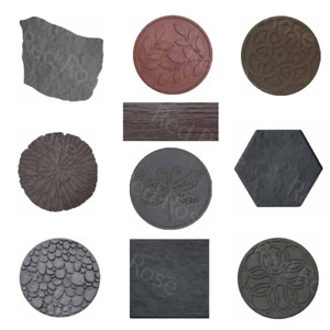 Garden Stepping Stone Recycled Rubber - Non-toxic, Non-slip, Eco & Pets Friendly