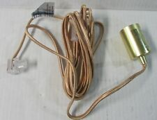 Globe Electric Matte Gold 1 light Pendant Light Fixture Hanging NEW #60582