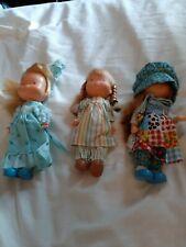 "3 Vintage 1975 6"". Vinyl Holly Hobbie Dolls by Knickerbocker"