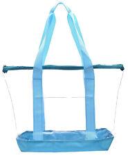 Clear Tote Bag Plastic Transparent Purse Handbag Zipper Security Event Stadium.
