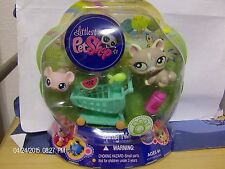 Littlest Pet Shop Spring Pets 1370 1371 Longhair Cat Kitten Mouse 2009 New