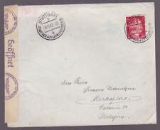 Germany 1943 Censored Cover Deutsches Reich Stuttgart to Merksplas Belgium