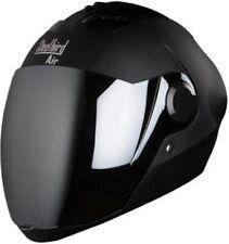 Steelbird Air Sba-2 Full Face Matt Black Silver visor Helmet With Extra Visor-L