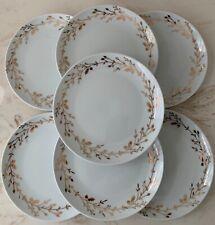 Pier 1 Imports GILDED WREATH Porcelain Salad Plates (Set of 7)
