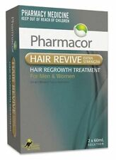 SAME AS REGAINE! HAIR LOSS REVIVE 5% MINOXIDIL PHARMACOR 2 x 60ML MENS WOMENS PH