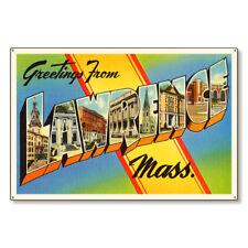 Lawrence Massachusetts Ma Large Letter Postcard Metal Sign Steel 36x24