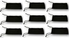 400 pcs Sunglasses Case Soft Pouch Black Eyeglasses Phone Jewelry Bag Gift Party