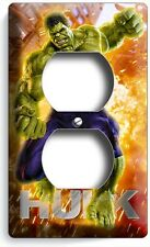THE INCREDIBLE HULK SINGLE DUPLEX OUTLET WALL PLATE COVER BOYS BEDROOM ROOM ART