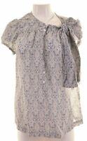 Womens Top Blouse UK 16 Large Multicoloured Cotton  MU04