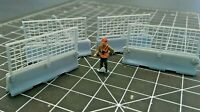 1/87 HO Scale Concrete Barriers with Fences (4) Construction Scenery Walthers