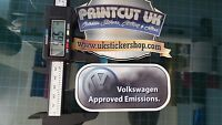 funny Volkswagen Approved Emissions sticker VW Golf Touran Sharan Tiguan Beetle