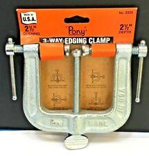 JORGENSEN PONY 3-Way Edging Clamp 2 1/2 Inch USA 3325