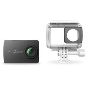 YI 4K Action Camera schwarz 4K/30fps 12MP Zubehörpaket Wasserdichtes Gehäuse