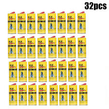 32 Rolls Sticky Fly Paper Eliminate Flies Insect Bug Glue Paper Catcher Trap New