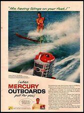 1958 Mercury Outboard Jim Rusing Ski Director Photo Vintage Print Ad