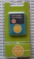 Agent 18 Transparente Ipod Nano 3G 3rd Muelle de protector duro estuche y 4GB/8GB
