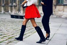 New $498 Black Womens 6 Frye Leather Boots Riding Tall Knee Buckle Dorado NWT