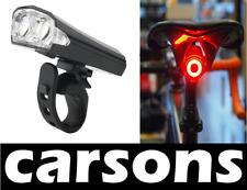 2 LED Anteriore e Posteriore USB Ricaricabile Bicicletta Luci Set Kit in Alluminio Lega di carsons