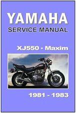 YAMAHA Workshop Manual XJ550 XJ550M Maxim 1981 1982 & 1983 Service & Repair