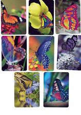 FANTASTIC BUTTERFLIES #1  (8)  swap/playing cards