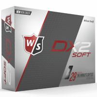 """NEW 2018"" WILSON STAFF DX2 SOFT WHITE GOLF BALLS DOUBLE DOZEN PACK 24 BALL PACK"