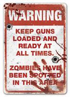WTF Zombie Zone Avertissement Plaque Murale En Métal Art Kitsch Mort-vivant