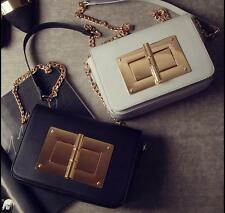 2017 Womens fashion Leather Shoulder bag Handbag Messenger  Big lock chain bag