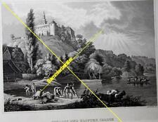 Stich: Schloß und Kloster Illock um 1880 (24800)