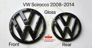 VW Volkswagen Scirocco MK3 Gloss Black Badge Front and Rear 2008-2014