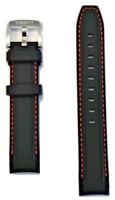 Original Tissot Quickster T095410A / T095417A Black Rubber 19mm Watch Band Strap
