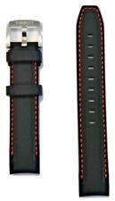 Original Tissot QUICKSTER 19mm Black Rubber Watch Band Strap For T095417