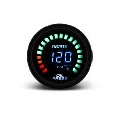 "2"" 52mm Digital Analog LED Oil Pressure Gauge 0-120 Psi Press Meter with Sensor"