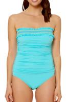 Bleu by Rod Beattie Smocked One-Piece Swimsuit MSRP $125 Size 12 # U2 296 NEW